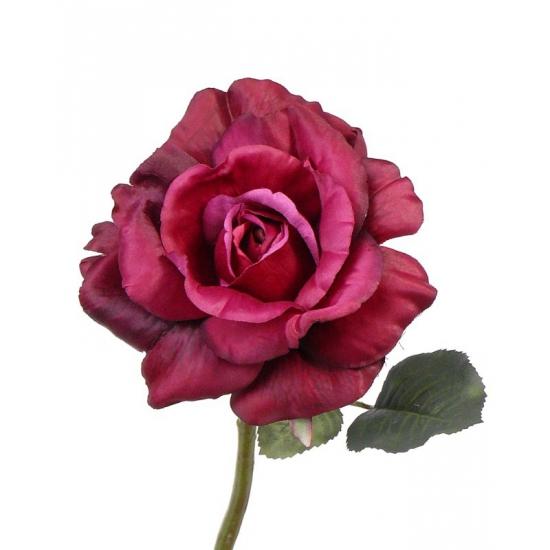 Kunst rozen roze 31 cm