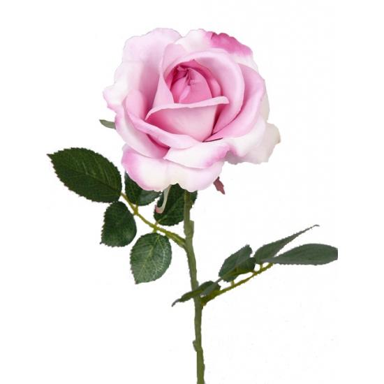 Kunst rozen roze 37 cm