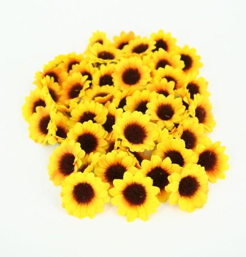 Kunst zonnebloemetjes 2 5 cm 100 stuks