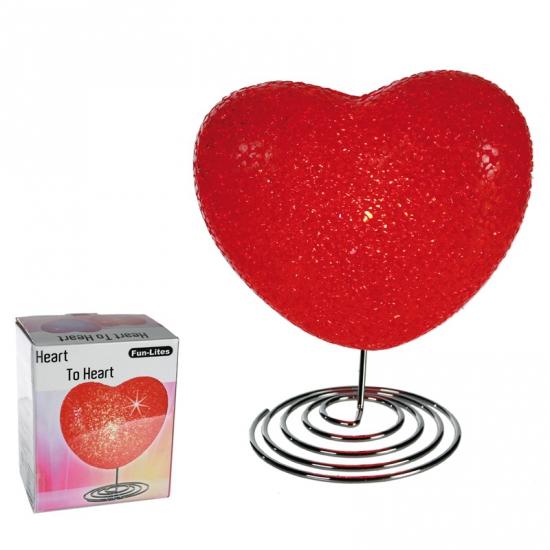 Lamp in hart vorm 16,5 cm