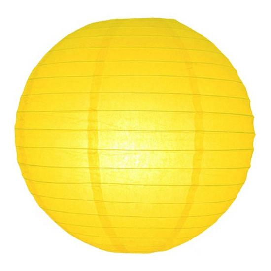 Lampion 25 cm geel
