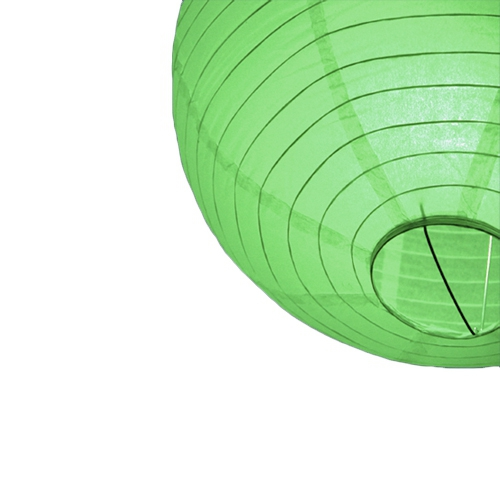 Lampion 25 cm groen