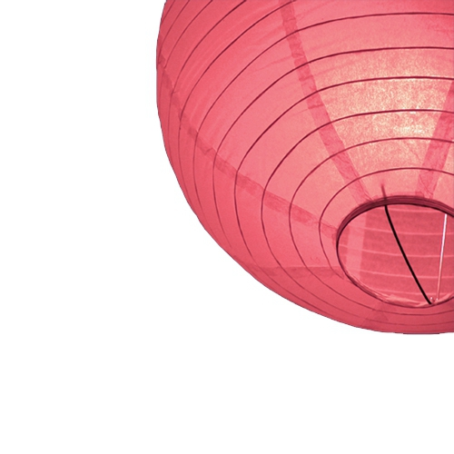 Lampion 25 cm rood