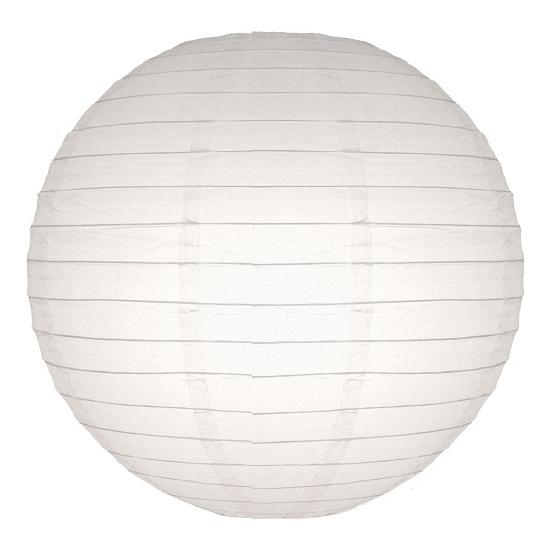 Lampion 25 cm wit