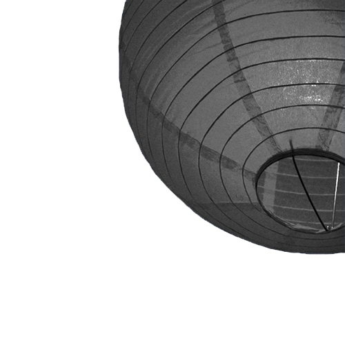 Lampion 25 cm zwart