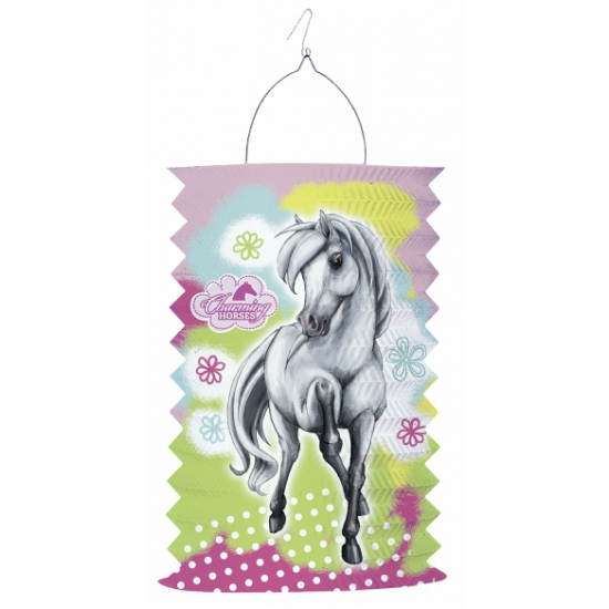 Lampion met paarden opdruk 30 cm
