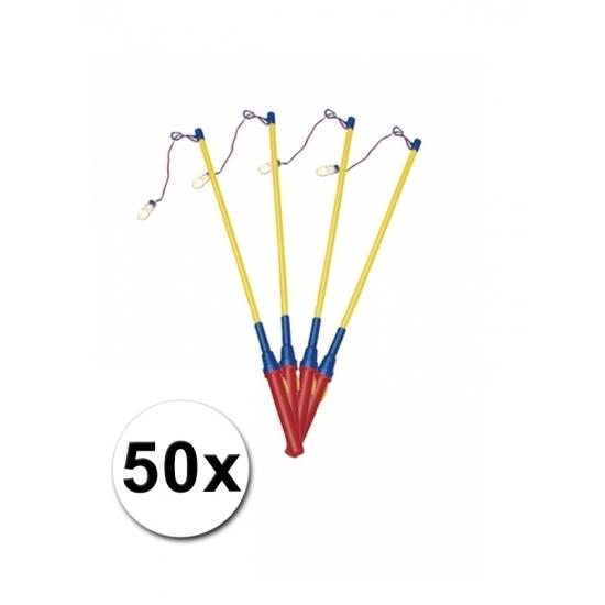 Lampionstokjes voordeel pak van 50 stuks