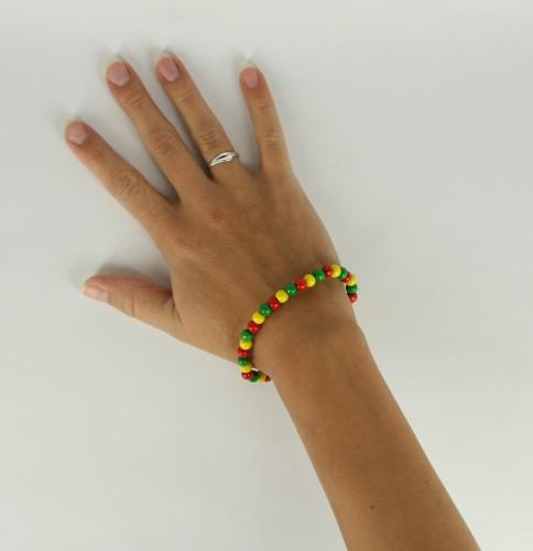 Landen kralen armband rood geel groen