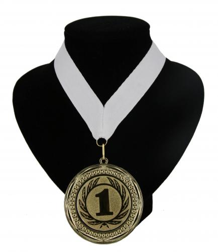 Landen lint nr  1 kampioensmedaille wit
