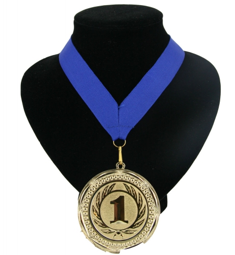 Landen lint nr. 1 medaille blauw