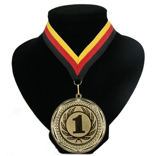 Landen lint nr  1 medaille rood geel zwart