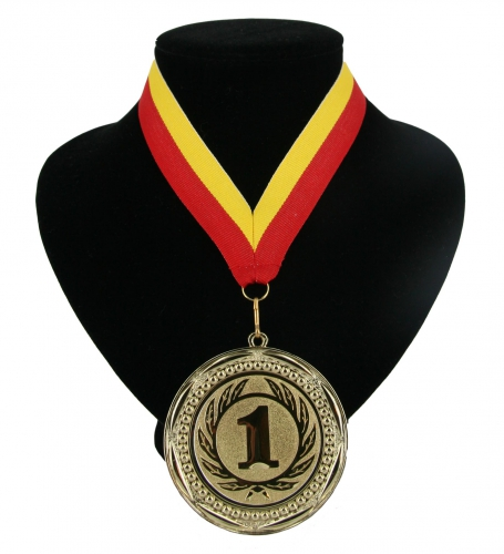 Landen lint nr. 1 medaille rood geel