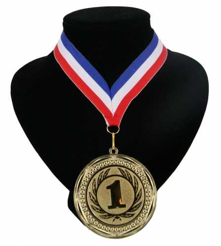 Landen lint nr  1 medaille rood wit blauw