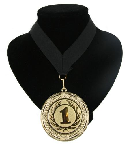 Landen lint nr  1 medaille zwart