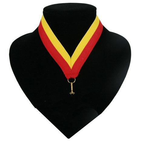 Landen lint voor medaille rood geel