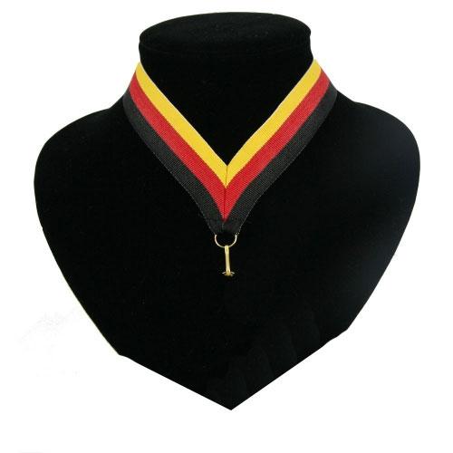 Landen lint voor medaille zwart  rood geel