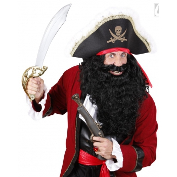 Lange piraat baard zwart