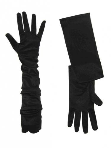 Lange zwarte handschoenen voor volwassenen
