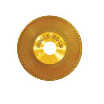 Langspeelplaat decoratie goud 48 cm