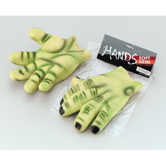 Latex groene hand handschoenen