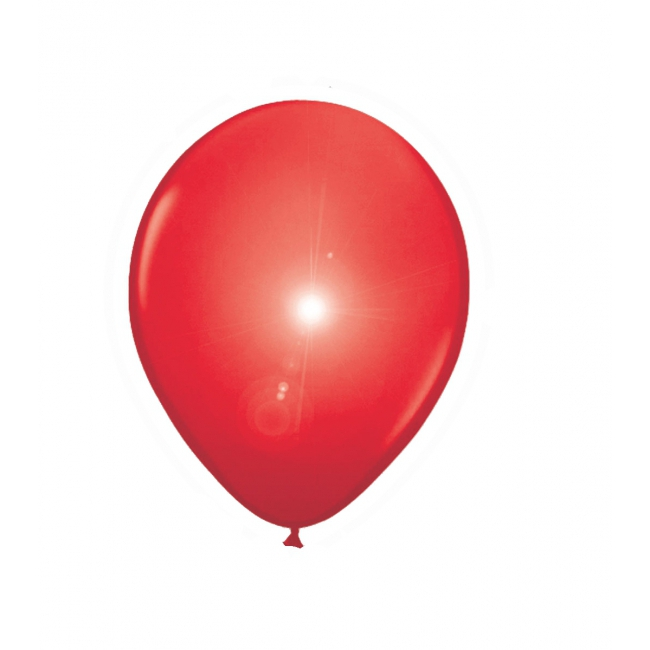 LED licht ballonnen rood 5 stuks