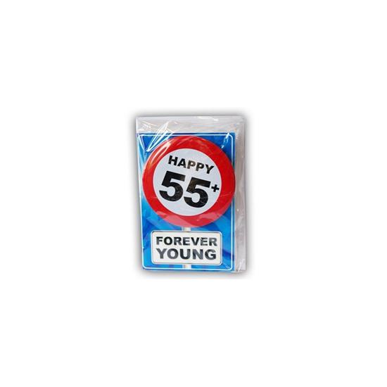 Leeftijd ansichtkaart 55 jaar