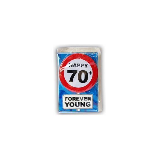 Leeftijd ansichtkaart 70 jaar