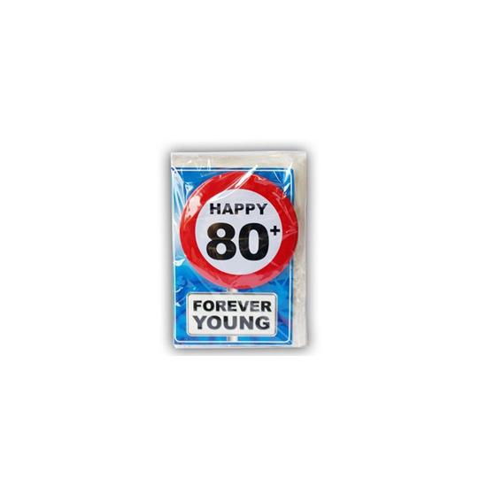 Leeftijd ansichtkaart 80 jaar