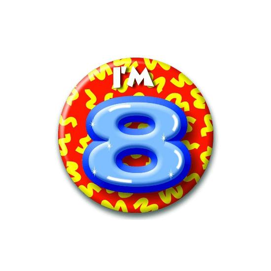 Leeftijd button 8 jaar