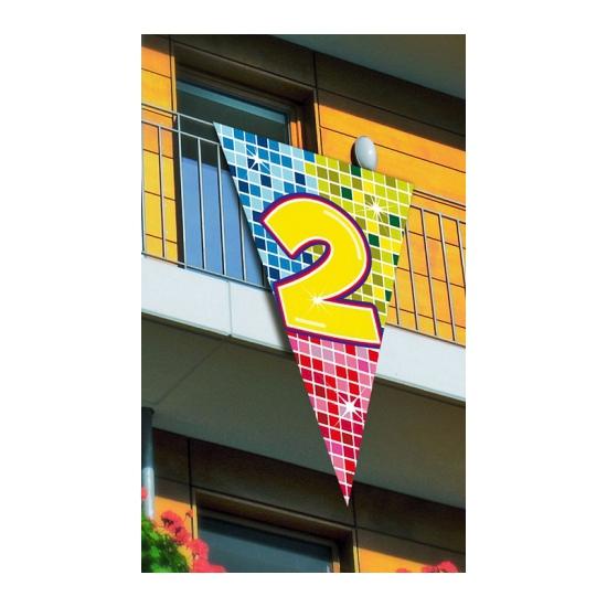 Leeftijd vlag 2 jaar 90 x 150 cm