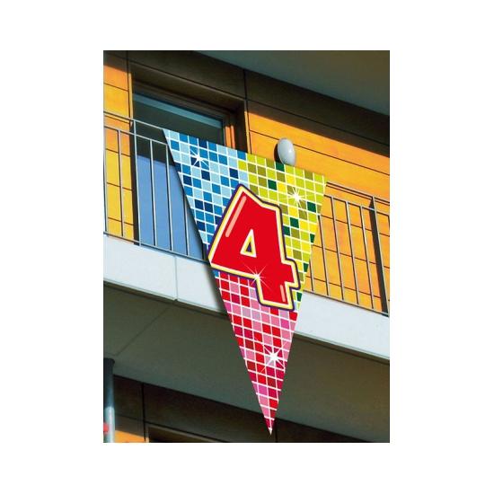 Leeftijd vlag 4 jaar 90 x 150 cm