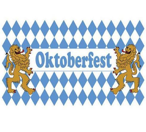 Leeuwen oktoberfest vlag 90x150 cm
