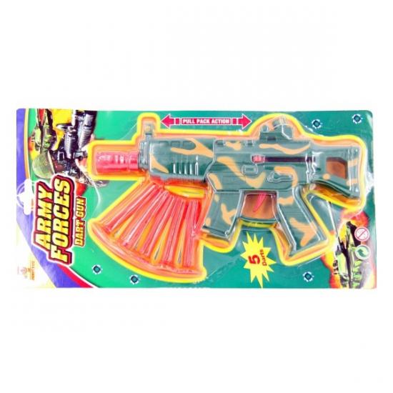 Leger geweer met plastic kogels
