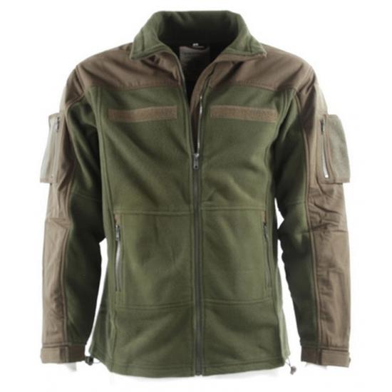 Legergroen fleece jacket voor heren