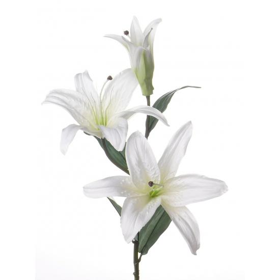 Lelie kunstbloem wit 87 cm