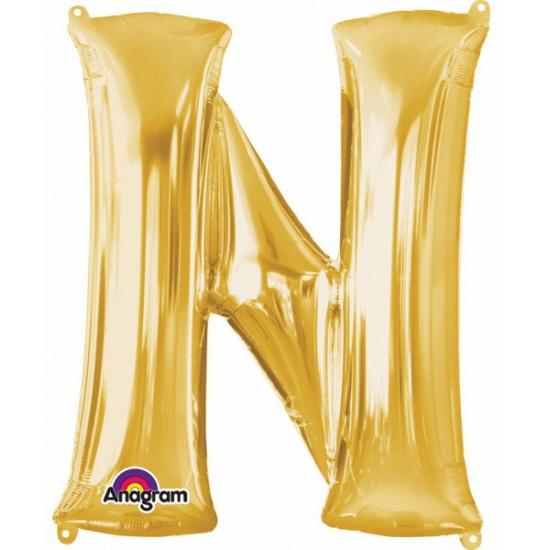 Letter N ballon goud 86 cm