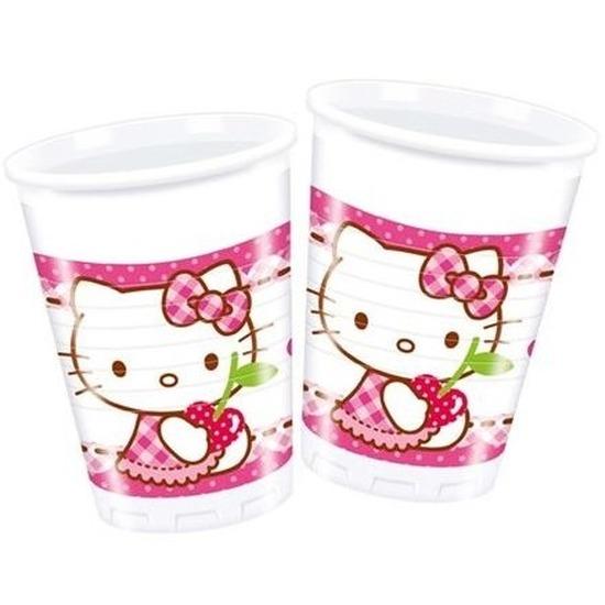 Leuke Hello Kitty bekers 8 stuks