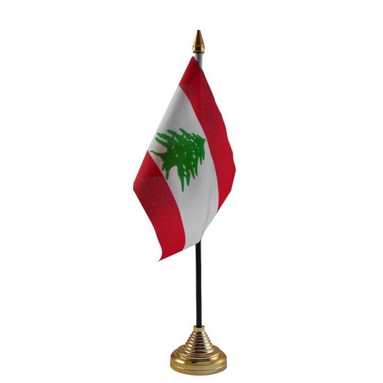 Libanese tafelvlag met standaard