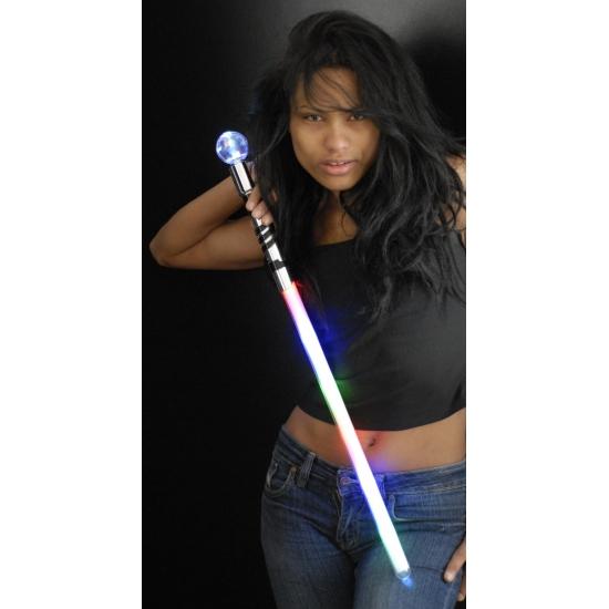 Licht zwaard met disco bol 70 cm