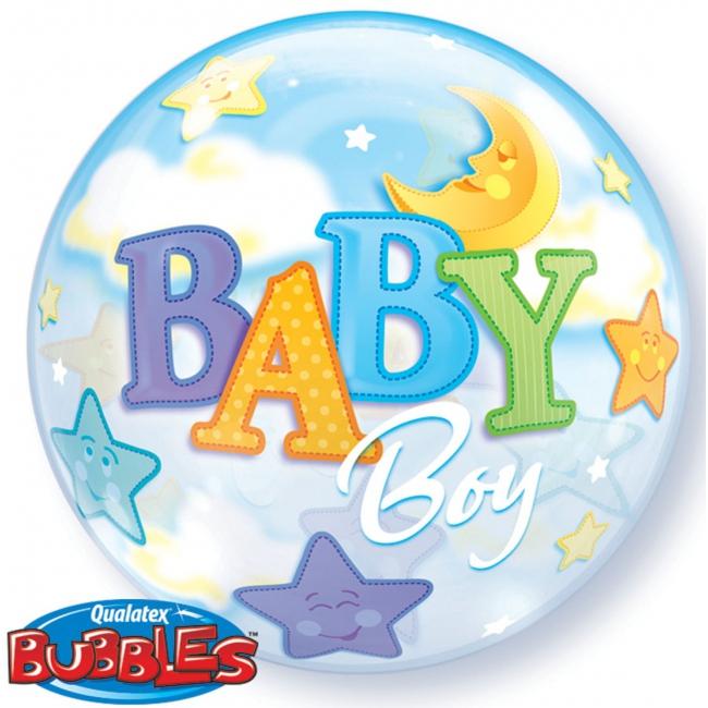 Lichtblauwe helium ballon baby boy