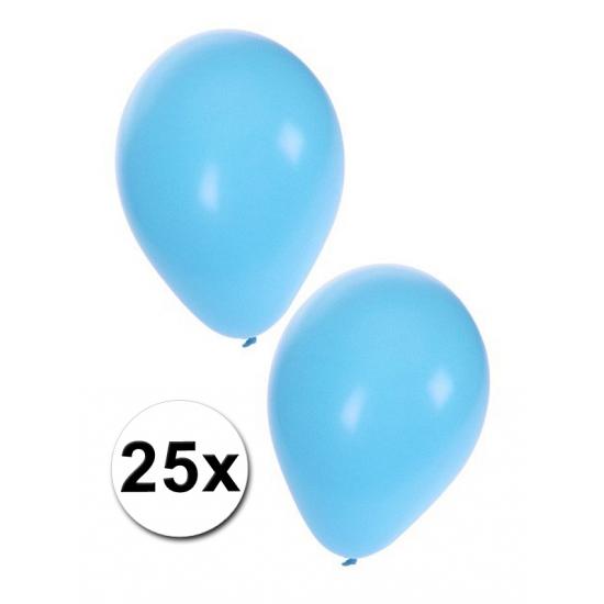 Lichtblauwe party ballonnen 25x