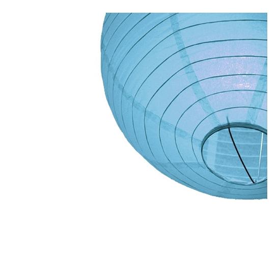 Lichtblauwe ronde lampion 25 cm