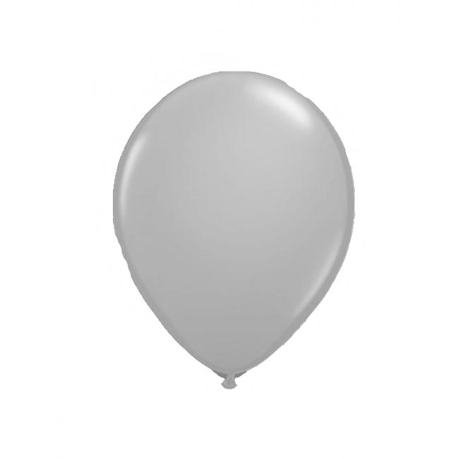 Lichtgevende LED ballon zilver 5 stuks