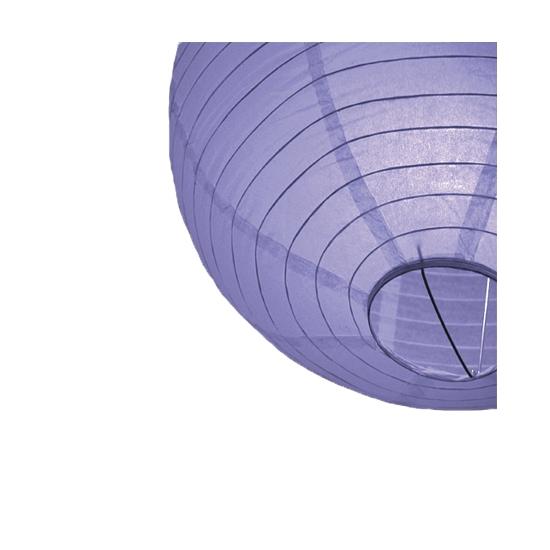 Lichtpaarse ronde lampion 25 cm