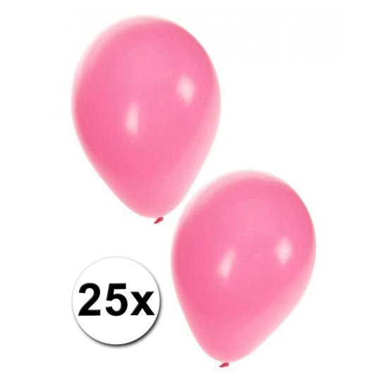 Lichtroze kraamfeest ballonnen 25x