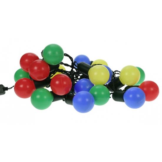 Lichtsnoer met 20 gekleurde bolletjes