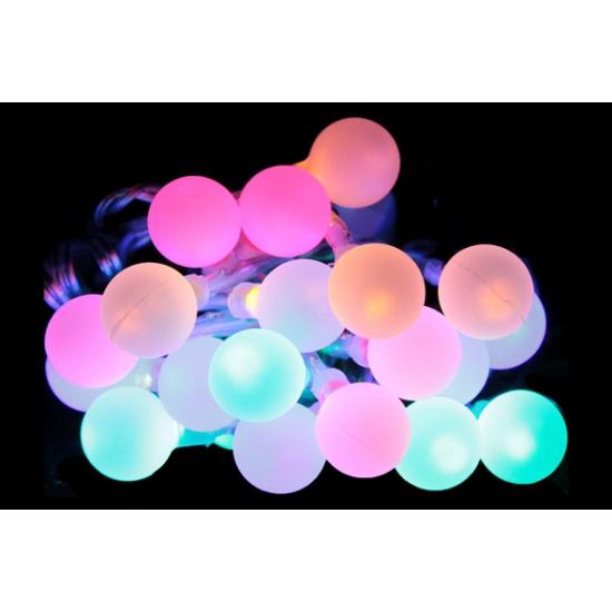 Lichtsnoer met zachte licht bolletjes