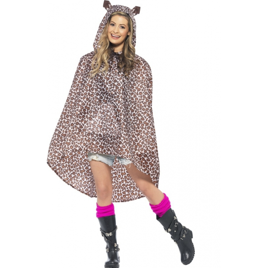 Luipaard party poncho