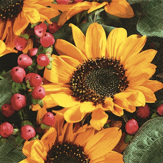 Lunch servetten zonnebloemen