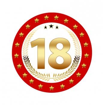 Luxe 18 geworden bierviltjes